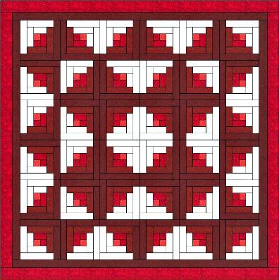 Log Cabin Quilt Is One Of The Easiest Quilt Blocks To Construct