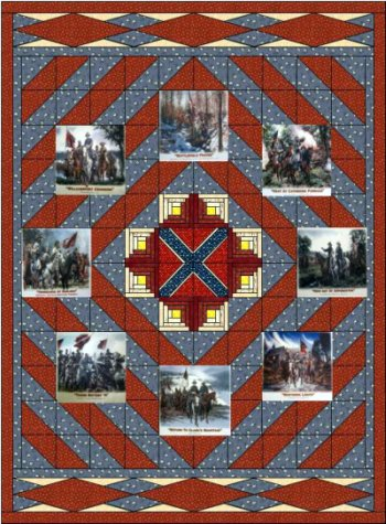 Very few Civil War quilts survived the war. : rebel flag quilt pattern - Adamdwight.com