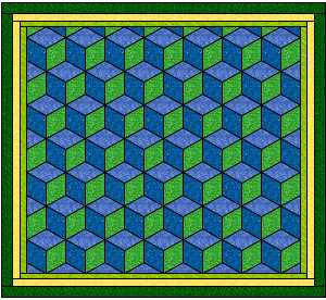 Tumbling Block Quilt Pattern
