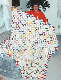 Quilting A Quilt Using Straight Lines