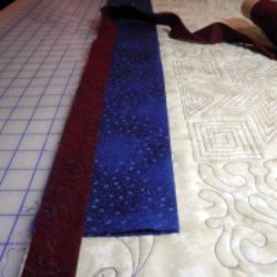 How to make a 4 inch hanging sleeve for a quilt
