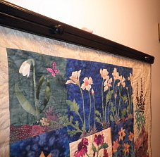 How to Hang a Quilt Using a Quilt Wall Hanger and a Hanging Sleeve : wall hangers for quilts - Adamdwight.com