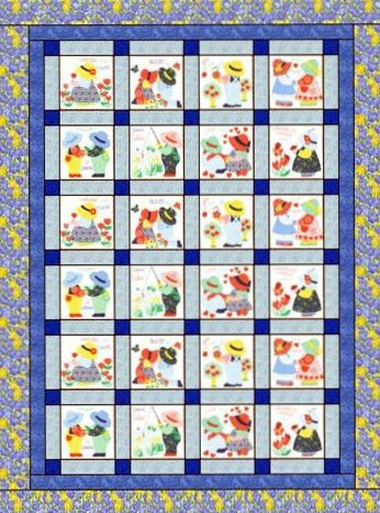 Sam and sue pre stamped quilt pattern free sam and sue pre stamped fabric quilting pattern couldnt be easier maxwellsz