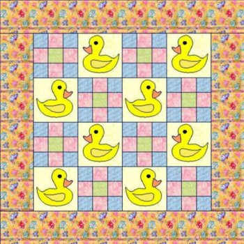 Free Baby Duck Pattern Not Only Fun But Easy To Make Amazing Easy Baby Quilt Patterns