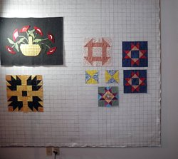 Design Wall For Quilting a quilt design wall reflects symmetrical quilt block patterns like