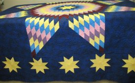 Lone Star Quilt Is An Exciting Challenge For Both