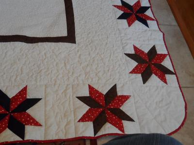 Lone Star Eagle Quilt Corners
